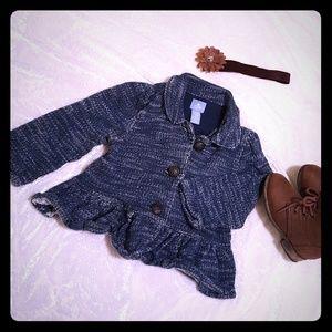 Baby Gap soft blue knit jacket 18-24 months